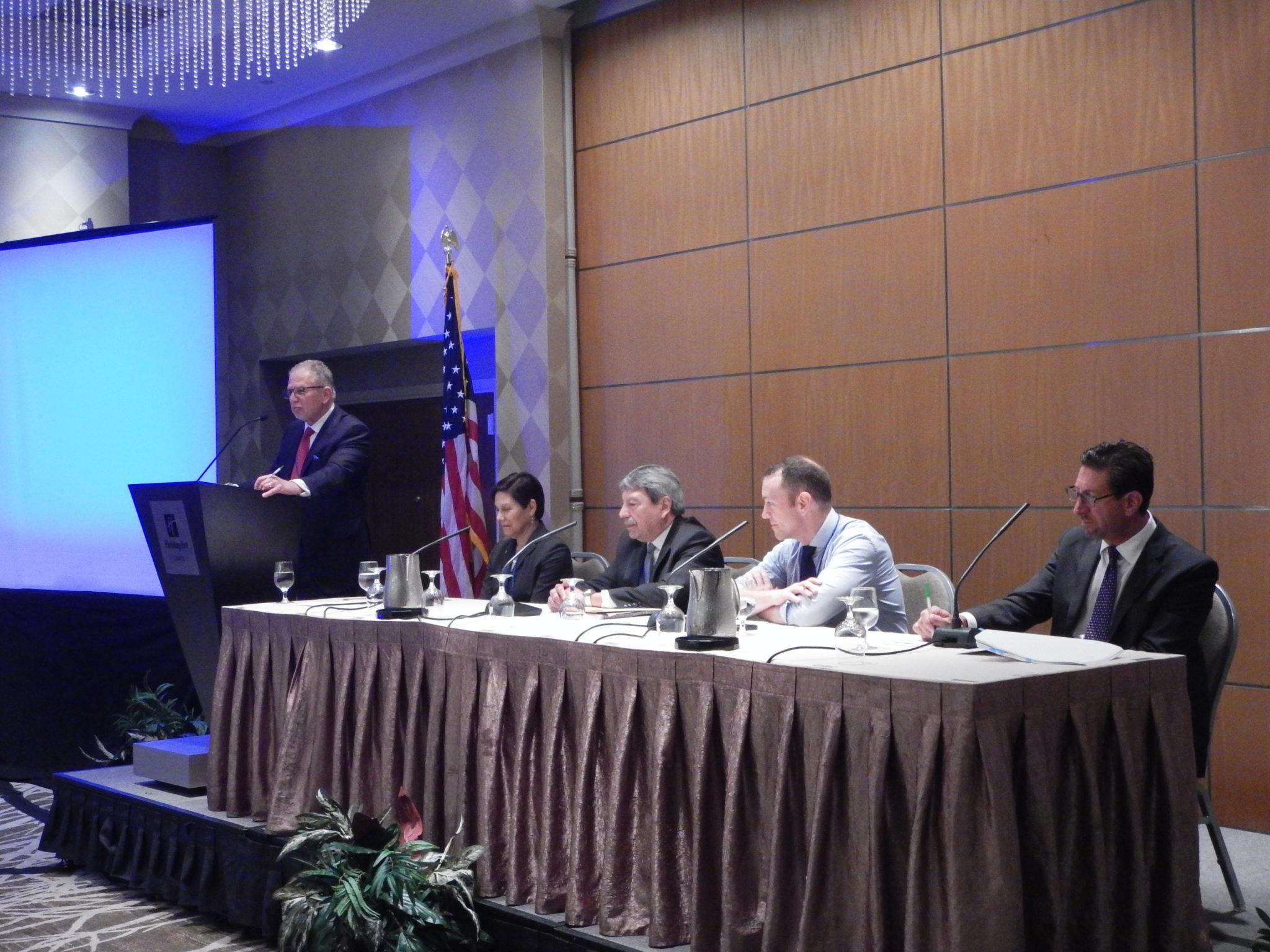 Mike Dworkin, Naomi Tsuda, Judge Montano, Judge Rawald, and Greg Winton; Photo by Robert L. Feldman